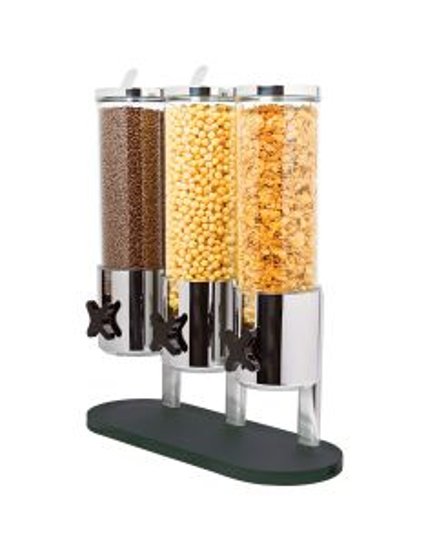 Distributeur à céréales x3 socle noir